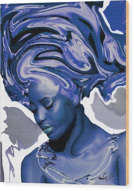 Yemaya Okute Wood Print by Liz Loz