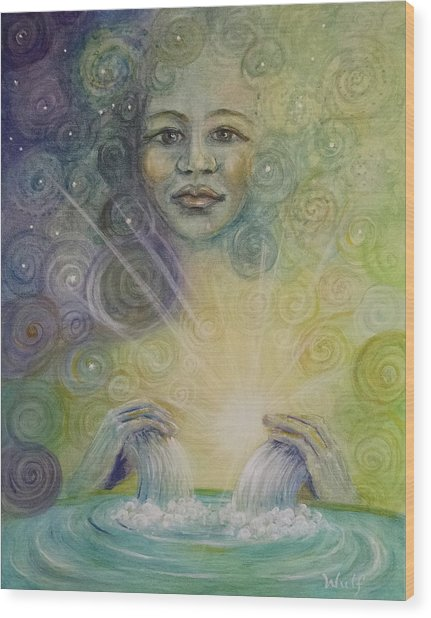 Yemaya - Water Goddess Wood Print