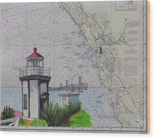 Yerba Buena Island Lighthouse Wood Print