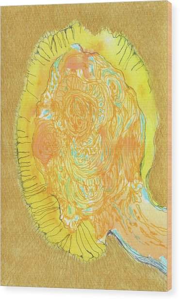Yes - #ss16dw047 Wood Print by Satomi Sugimoto