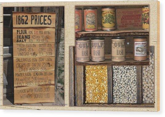 Yesteryear Groceries Wood Print