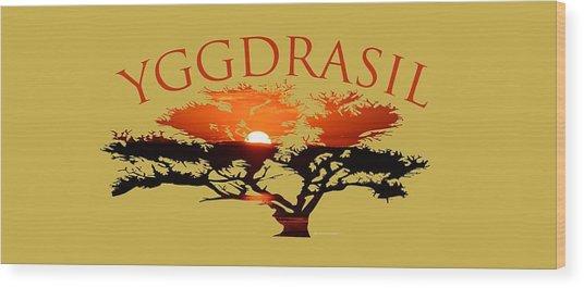 Yggdrasil- The World Tree Wood Print