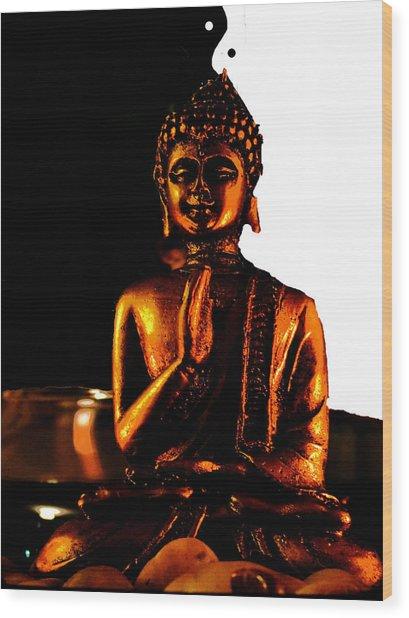 Yin Yang Buddha Wood Print
