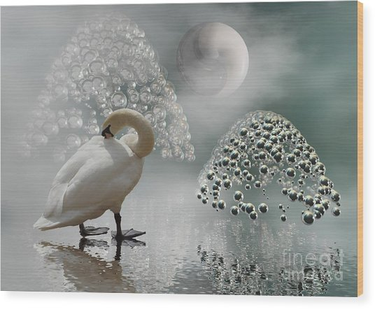 Yinyang - Moon Wood Print