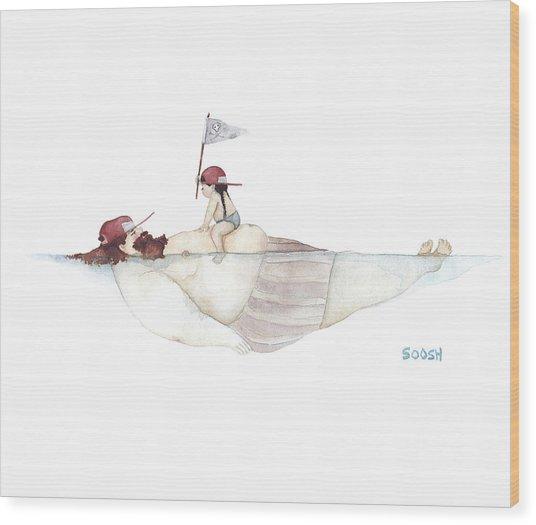 Yo Ho Ho Wood Print