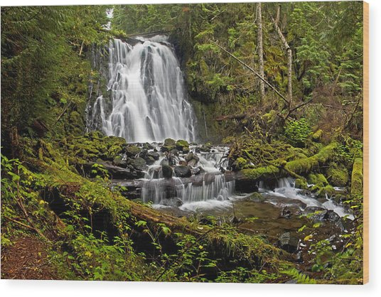 Yocum Falls. Oregon Wood Print
