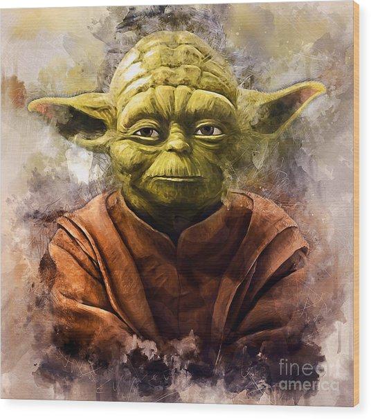 Yoda Art Wood Print