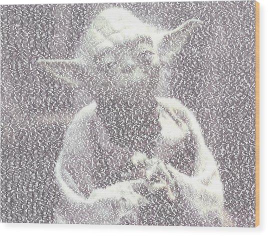 Yoda Quotes Mosaic Wood Print