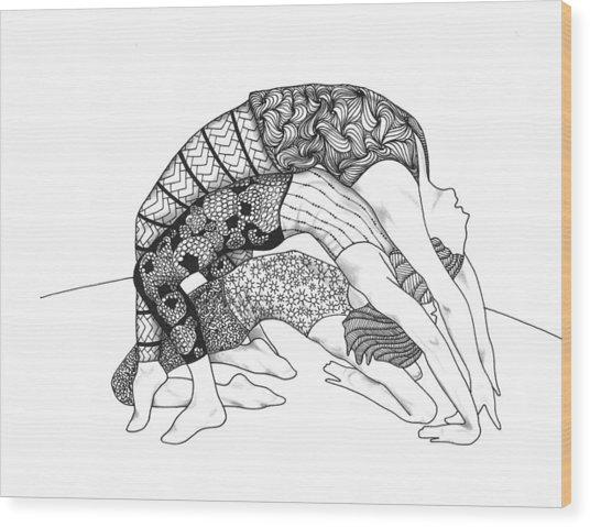 Yoga Sandwich Wood Print