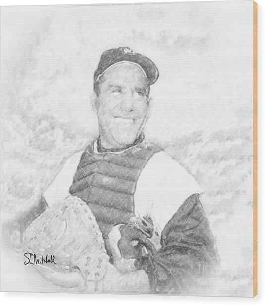 Yogi Berra Wood Print