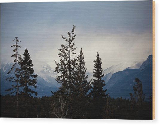 Wood Print featuring the photograph Yoho Mountains British Columbia Canada by Jane Melgaard