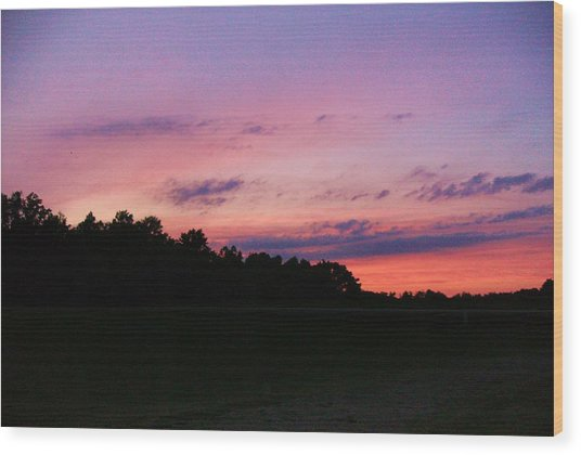 Yon Sky II Wood Print by Anne-Elizabeth Whiteway