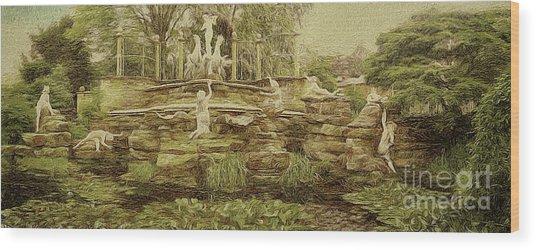 York House Gardens Statues - Twickenham Wood Print