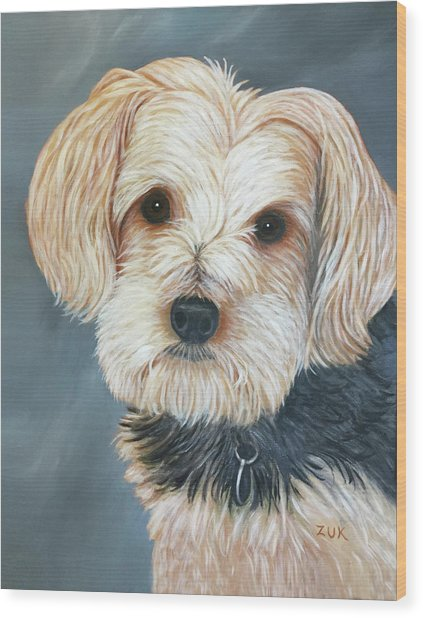 Yorkie Portrait Wood Print