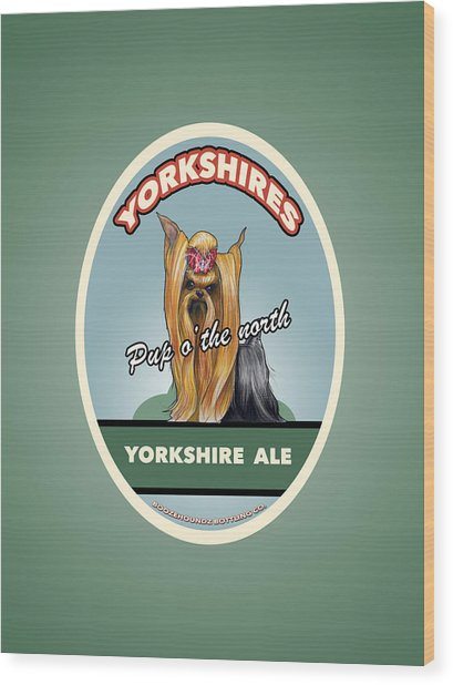 Yorkshire Ale Wood Print