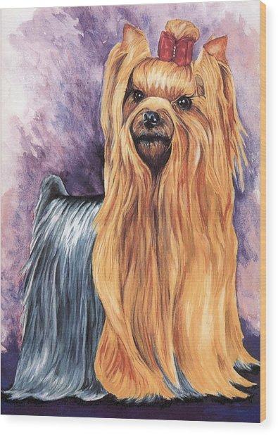 Yorkshire Terrier Wood Print by Kathleen Sepulveda