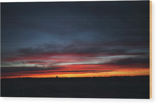Yorkton Sunrise Wood Print
