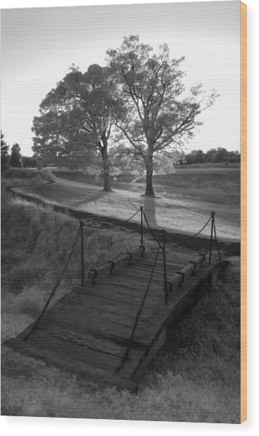 Yorktown - Battlefield Foot Bridge Wood Print