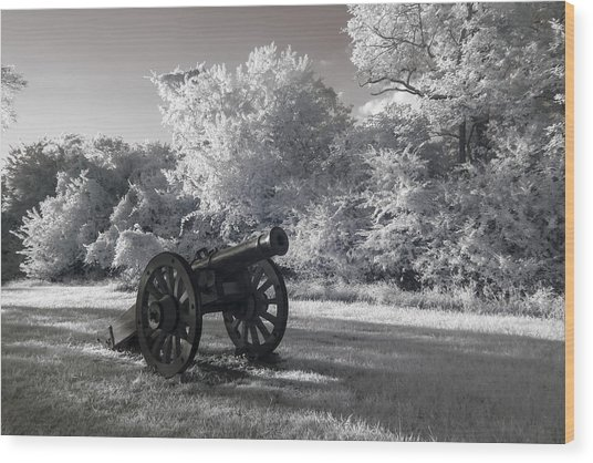 Yorktown - Cannon Wood Print