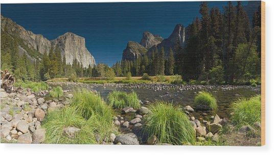 Yosemite - El Capitan Wood Print