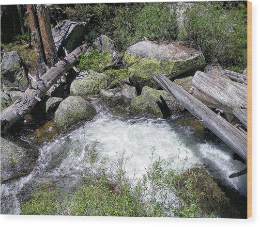Yosemite Whitewater Wood Print