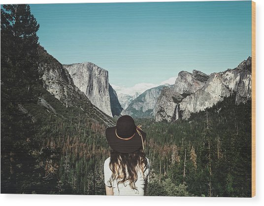 Yosemite Awe Wood Print