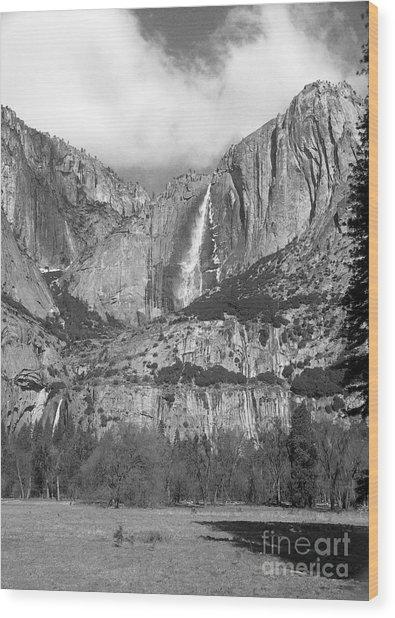 Yosemite Falls Wood Print by Richard Verkuyl