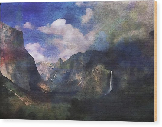 Yosemite H2o Color Wood Print