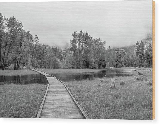 Yosemite Monochrome Wood Print