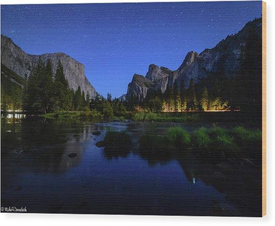 Yosemite Nights Wood Print