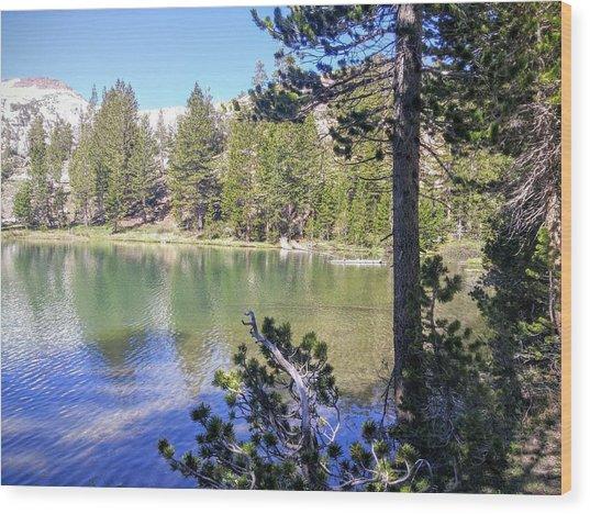 Yosemite Lake Wood Print