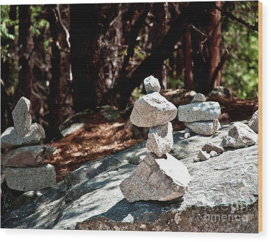 Yosemite Rock Art  Wood Print