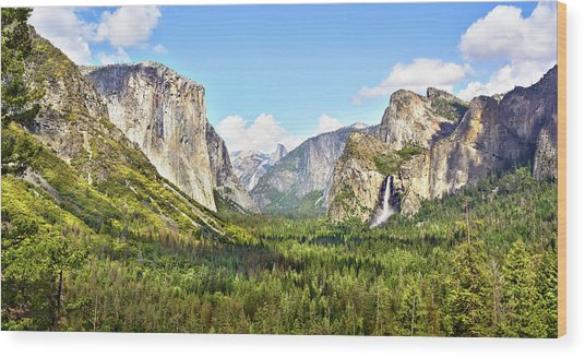 Yosemite Tunnel View Afternoon Wood Print