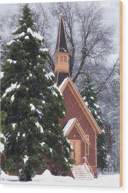 Yosemite Valley Chapel  Wood Print