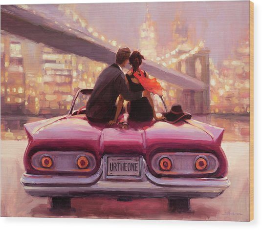Wood Print featuring the painting You Are The One by Steve Henderson