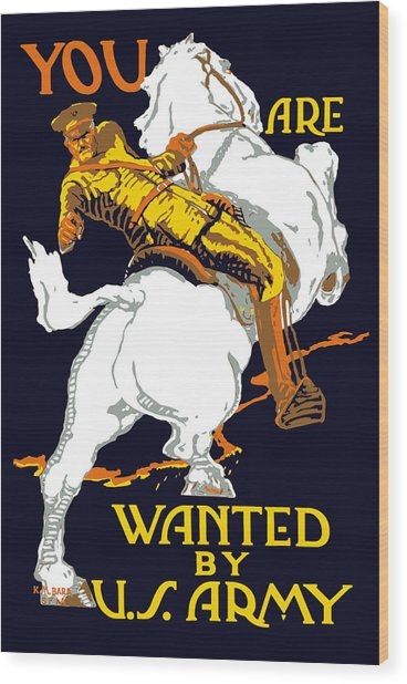 You Are Wanted By Us Army Wood Print