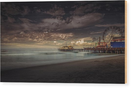 Enchanted Pier Wood Print
