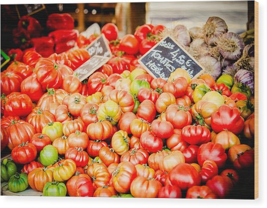 Wood Print featuring the photograph You Say Tomato by Jason Smith