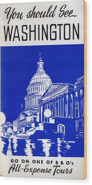 You Should See Washington Wood Print