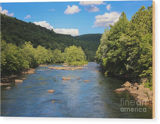Youghiogheny River Wood Print