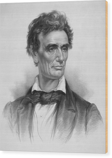 Young Abe Lincoln Wood Print