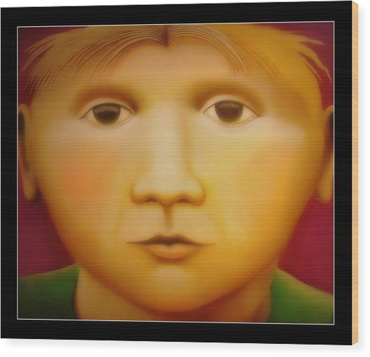 Young Boy - In Large Scale Wood Print