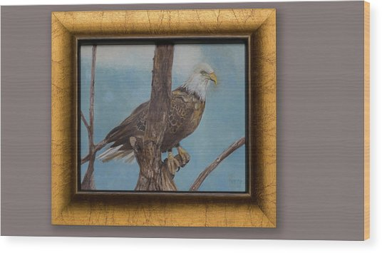 Young Eagle Wood Print