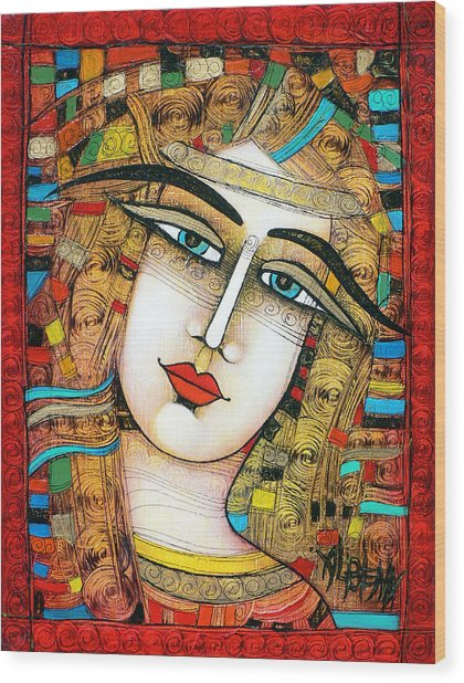 Young Girl Wood Print by Albena Vatcheva