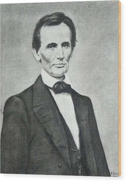Young Lincoln Wood Print