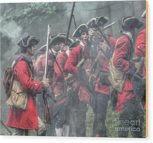 Young Lions French And Indian War  Wood Print