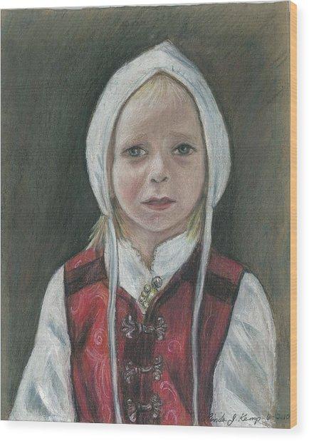Young Norwegian Girl            Wood Print