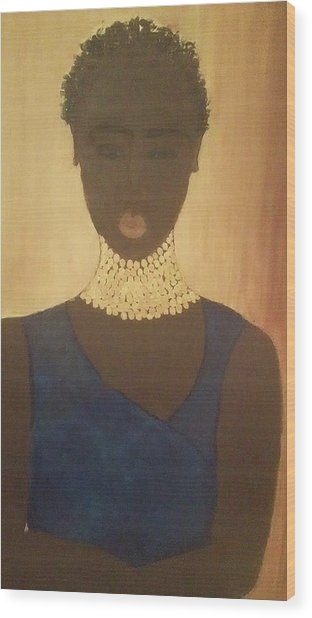 Young Sudanese Woman Wood Print by Susan Madison