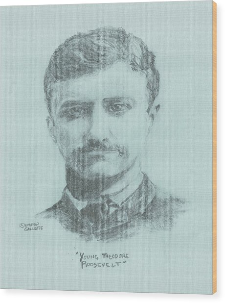 Young Theodore Roosevelt Wood Print