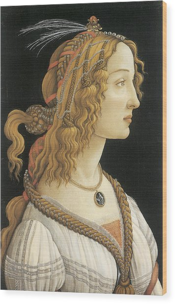 Young Woman In Mythical Guise Wood Print by Sandro Botticelli